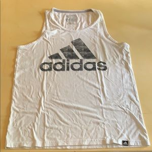 Adidas Men's White Tank Top